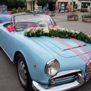 Les voitures des mariés