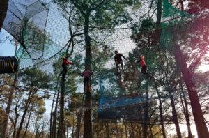 Trampoforest en groupe